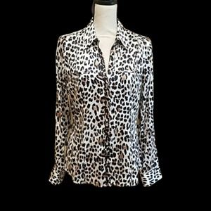 White house Black market leopard blouse